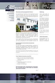 Ebert Maschinenbau GmbH: Zerspanungstechnik und Maschinenbau in Ostwestfalen-Lippe, Hannover und Hameln
